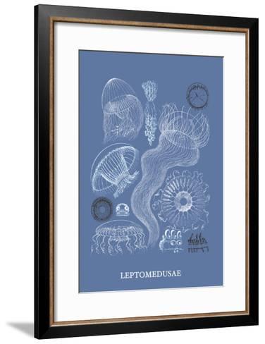 Jellyfish: Leptomedusae-Ernst Haeckel-Framed Art Print
