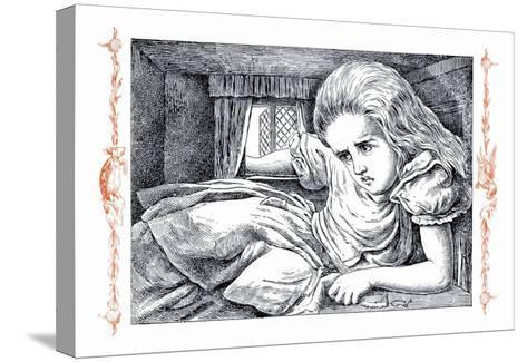 Alice in Wonderland: Alice Grows Large-John Tenniel-Stretched Canvas Print