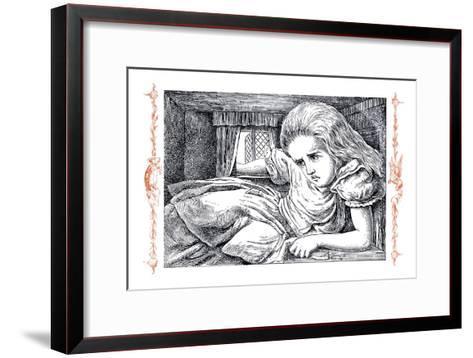 Alice in Wonderland: Alice Grows Large-John Tenniel-Framed Art Print