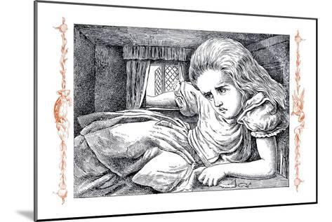 Alice in Wonderland: Alice Grows Large-John Tenniel-Mounted Art Print