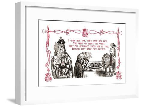 Alice in Wonderland: King and Tarts-John Tenniel-Framed Art Print