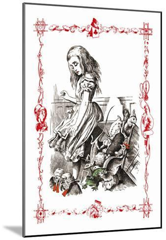 Alice in Wonderland: Alice Tips over the Jury Box-John Tenniel-Mounted Art Print