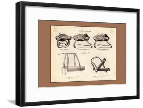 Cart Saddles and Breeching--Framed Art Print