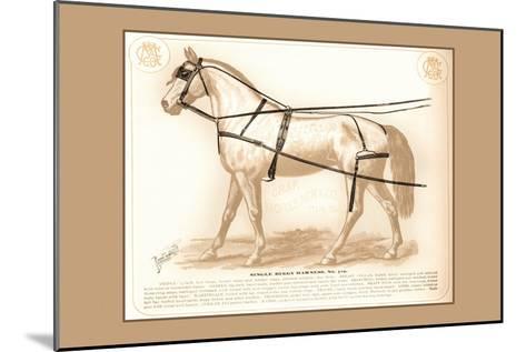 Single Buggy Harness--Mounted Art Print