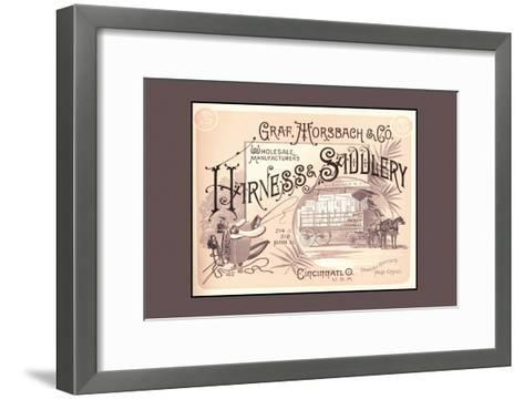 Graf, Morsbach and Co. Harness and Saddlery--Framed Art Print
