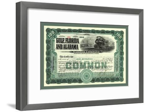 Gulf, Florida and Alabama Railway Co., c.1914--Framed Art Print