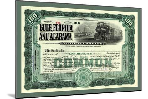 Gulf, Florida and Alabama Railway Co., c.1914--Mounted Art Print