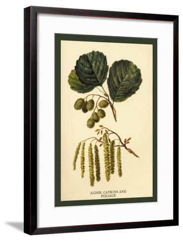 Alder, Catkins and Foliage-W^h^j^ Boot-Framed Art Print