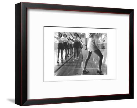 Tap Dancing Class at Iowa State--Framed Art Print