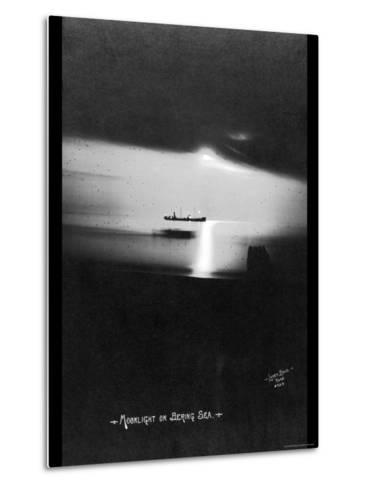 Moonlight on the Bering Sea- Lomen Brothers-Metal Print