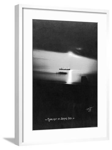 Moonlight on the Bering Sea- Lomen Brothers-Framed Art Print
