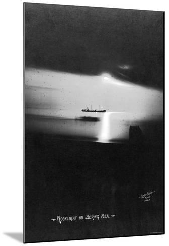 Moonlight on the Bering Sea- Lomen Brothers-Mounted Photo