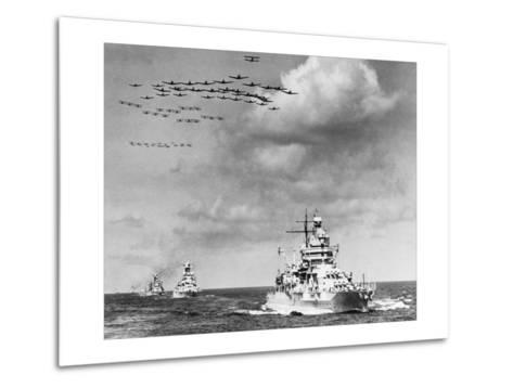 The Fleet, The U.S. Navy Sailing to Victory--Metal Print