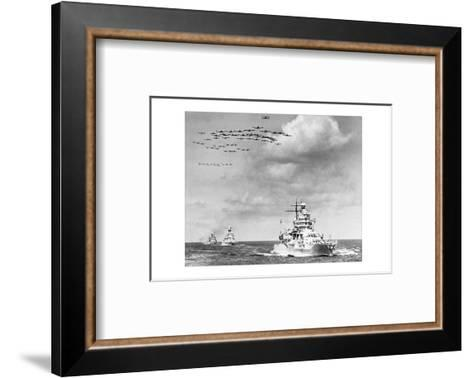 The Fleet, The U.S. Navy Sailing to Victory--Framed Art Print