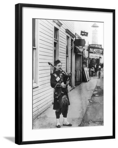 Scottish Bagpiper-Irving Underhill-Framed Art Print