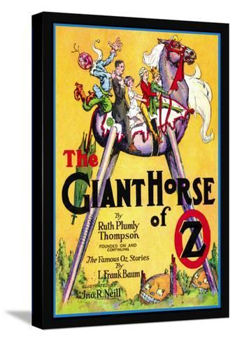 The Giant Horse of Oz-John R^ Neill-Stretched Canvas Print