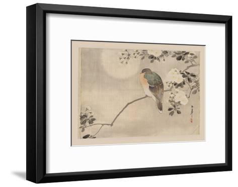 Bird and Cherry Blossoms--Framed Art Print