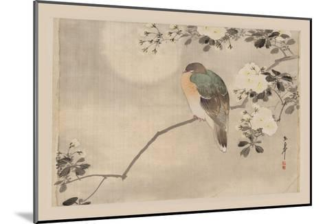 Bird and Cherry Blossoms--Mounted Art Print