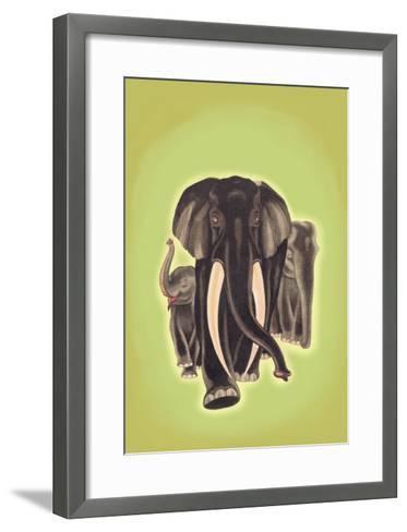 Indian Elephants-Robert Harrer-Framed Art Print