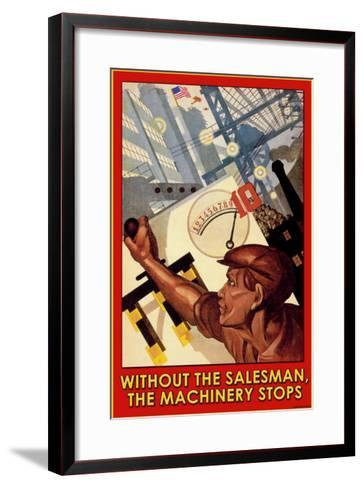 Without the Salesman--Framed Art Print