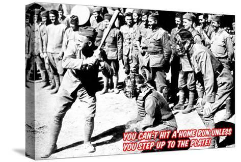 Step Up to the Plate!--Stretched Canvas Print