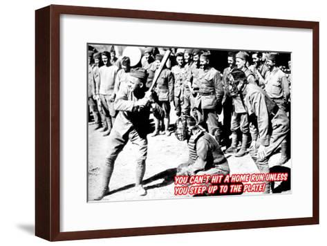 Step Up to the Plate!--Framed Art Print