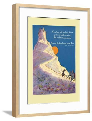 Build Castles in the Air--Framed Art Print