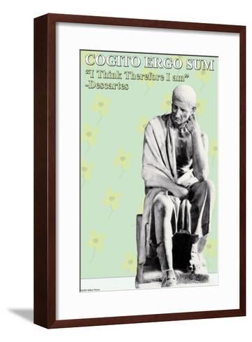 Cogito Ergo Sum--Framed Art Print
