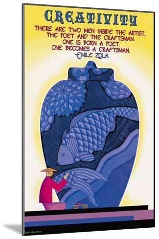 Poet and Craftsman--Mounted Art Print