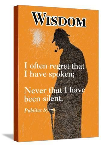 Wisdom--Stretched Canvas Print