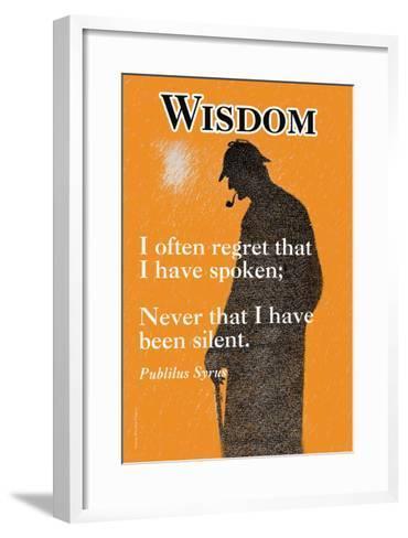 Wisdom--Framed Art Print