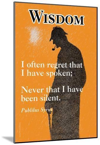 Wisdom--Mounted Art Print