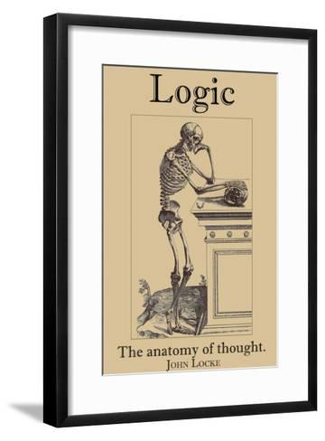 Logic, The Anatomy of Thought-John Locke-Framed Art Print