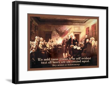 All Beers Are Not Created Equal--Framed Art Print