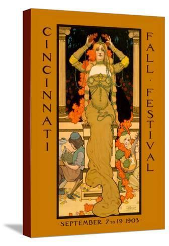 Cincinnati Fall Festival--Stretched Canvas Print