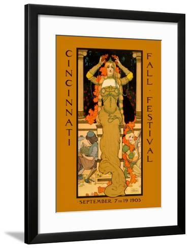 Cincinnati Fall Festival--Framed Art Print