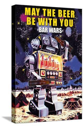 May the Beer be with You--Stretched Canvas Print