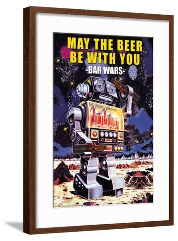 May the Beer be with You--Framed Art Print