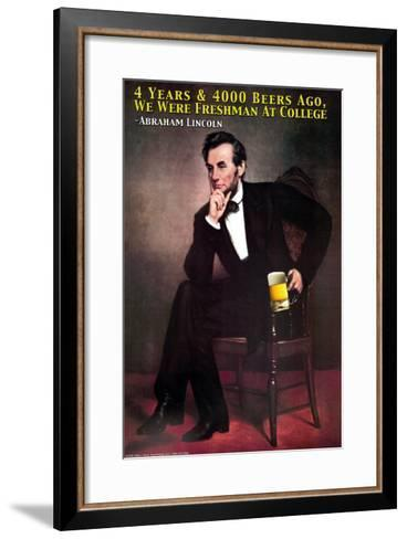 4 Beers and 4000 Years Ago--Framed Art Print