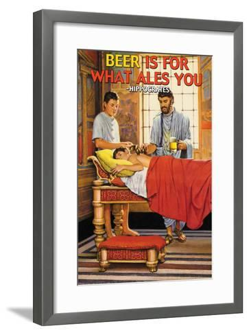 Beer is for What Ales You--Framed Art Print