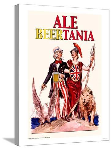 Ale Beertania--Stretched Canvas Print