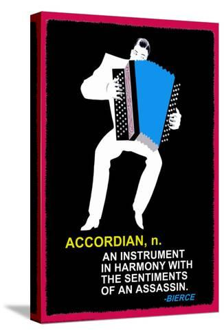 Accordian--Stretched Canvas Print