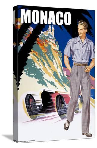 Monaco Men's 50's Fashion II--Stretched Canvas Print