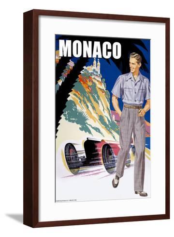 Monaco Men's 50's Fashion II--Framed Art Print