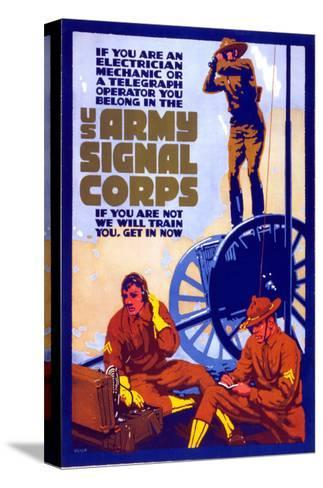 U.S. Army Signal Corps--Stretched Canvas Print