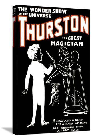 Lady Fair: Thurston the Great Magician the Wonder Show of the Universe--Stretched Canvas Print