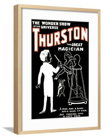 Lady Fair: Thurston the Great Magician the Wonder Show of the Universe--Framed Art Print