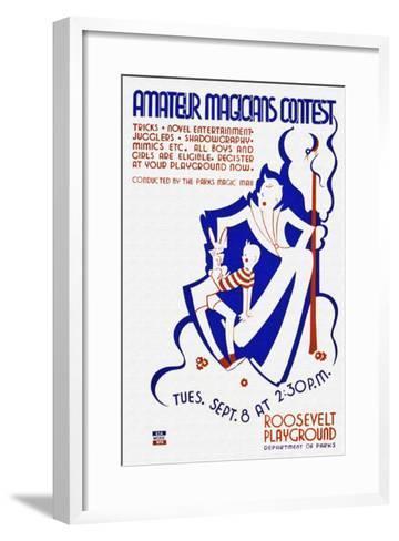 Amateur Magicians Contest--Framed Art Print