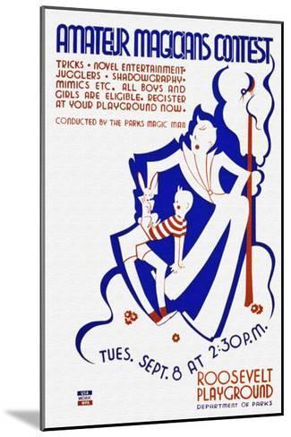 Amateur Magicians Contest--Mounted Art Print