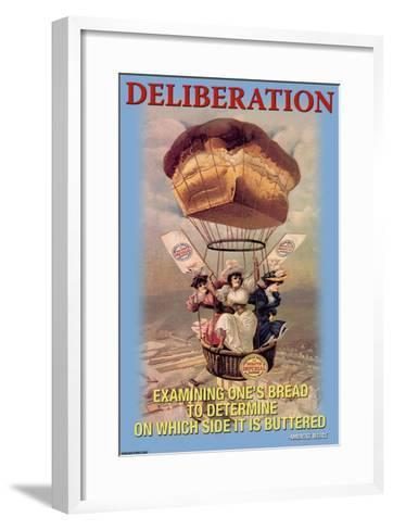 Deliberation: Examining One's Bread to See Which Side is Buttered--Framed Art Print